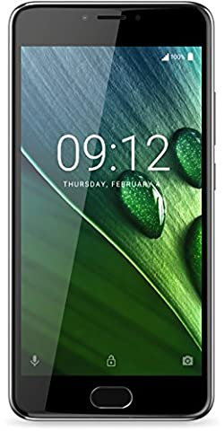 Acer Liquid Z6 Plus Dual Nano-SIM Smartphone (14 cm (5,5 Zoll) Full HD Display, 32GB Speicher, 3GB RAM, 4.080mAh Akku, Android 6.0) aluminium grau