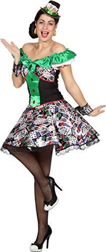 Damen Spielkarten Kostüm - Wilbers Damen Kostüm Kleid Casino Spielkarten