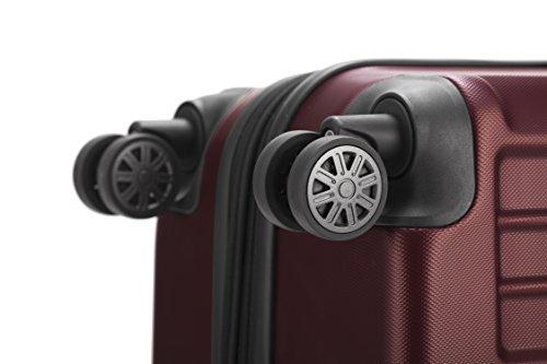 HAUPTSTADTKOFFER - X-Berg - Koffer Trolley Hartschalenkoffer, TSA, 75 cm, 128 Liter, Burgund - 6