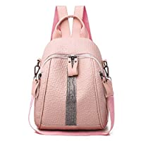 Silver Diamond Backpack Elephant Pattern Bag Youth Girl Travel Bag
