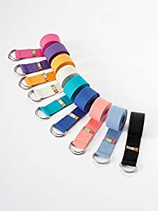 Yogamatters d-ring yoga belt, Dusk blue