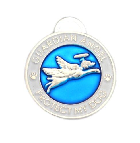 Luxepets Hundehalsband, Schutzengel-Motiv, Blau -