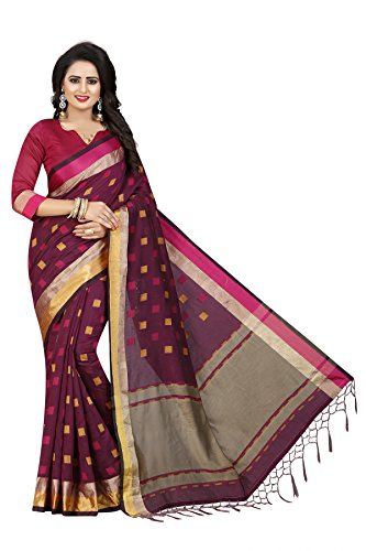 Kanchan Jacquard Silk Saree For Women & Girls Ideal For All Occasions(KTTWO...