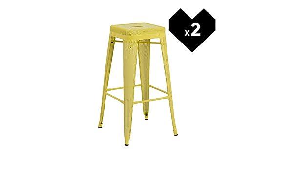 Sklum pack 2 sgabelli alti lix perforati giallo scegli un colore