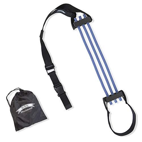 WBN Maximum Klimmzughilfe - Chin Pull Up Assist Band für mehr Klimmzüge - effektives Krafttraining für Starke Schultern, Arme und Rücken (blau)