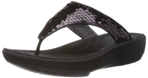 Clarks Women's Wave Dazzle Black Slippers - 4 UK