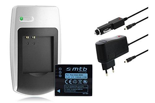 Ladegerät + Akku CGA-S005 für Panasonic Lumix DMC-FS/FX/LX Serie - Siehe Kompatibilitätsliste - Dmc-fx-serie