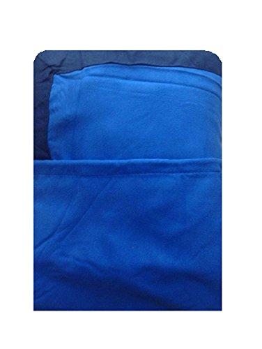Coprilettino Telo Mare Lettino con Tasche e Borsetta in Microfibra (Blu Royal)