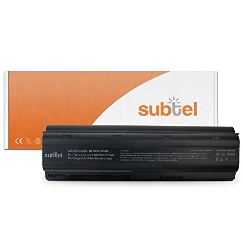 subtel Qualitäts Akku (8800mAh) für HP Pavilion dm4*/dv3*/dv5*/dv6*/dv7*/G4/G6/G7/G42/G62/G72/Envy 17 MU06 Notebookakku Laptopakku Ersatzakku Batterie (Mah-lithium-ionen-akku 8800)