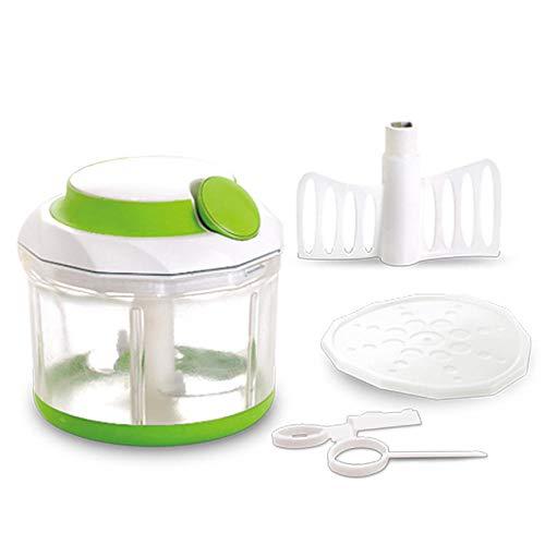 HXTXAT Quick Pull Food Chopper Groß, Kunststoff, Grün, Mit Rührwerk(Mixen, Schleudern, aufbewahren)