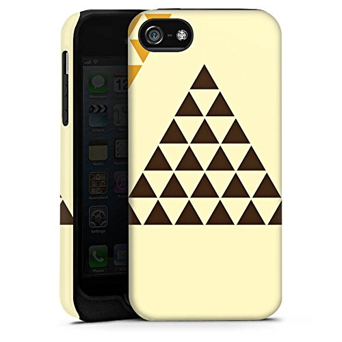 Apple iPhone X Silikon Hülle Case Schutzhülle Dreieck Pyramide Triforce Tough Case matt