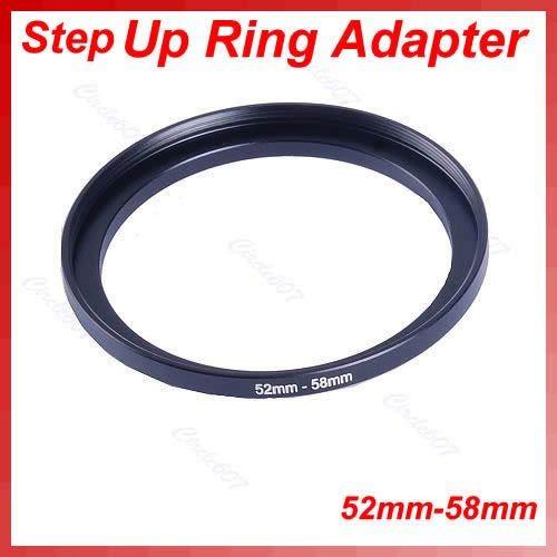 Baodanjiayou Step-Up Objektivadapter Objektivadapter Ring Step Down Ring Se 1 Stück Metall 52 mm-58 mm Step Up Filter Lens Ring Adapter 52-58 mm 52 bis 58 Stepping -
