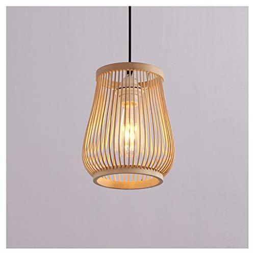 Mwg lampadario lampadario, moderno e minimalista lampadario bar lampada lampadario in bambù ristorante soggiorno corridoio corridoio apparecchi di illuminazione, lampadario