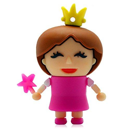 818-Shop No31500030004 Hi-Speed 2.0 USB-Sticks 4GB Lustige Prinzessin Königin 3D bunt