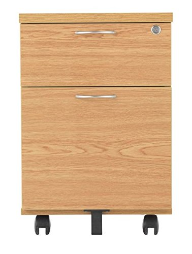 2 Drawer Mobile Pedestal in Beech - Smart Office Furniture Range