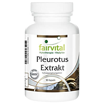 fairvital - Pleurotus Medicinal Mushroom Extract 500mg - 30% Polysaccharides (150mg) - 90 Vegetarian Capsules from fairvital
