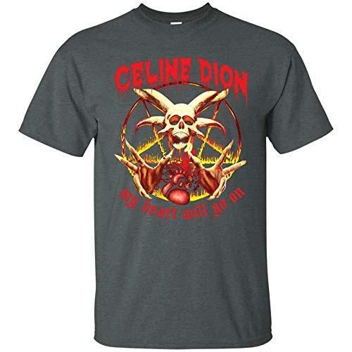 Will Go On Rock Metal Tee Men Unisex Tshirt ()