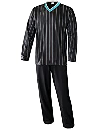 Herren Schlafanzug lang Herren Pyjama lang Hausanzug langarm Herren aus 100% Baumwolle Model MoonLine