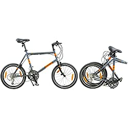 Dahon Dash D18plegable bicicletas, color gris, tamaño unisex