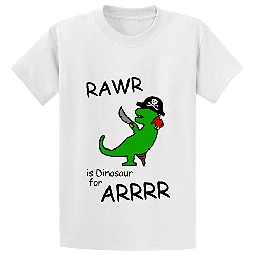 Unicorn Rawr Is Dinosaur For Arrr Pirate Dinosaur Unisex Crew Neck Tees...