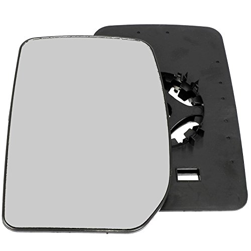 Passenger left hand side wing door mirror convex glass with backing plate