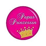 Kiwikatze® Baby - Papas Prinzessin - 37mm Button Pin Ansteckbutton für Wickeltasche oder Kinderwagen