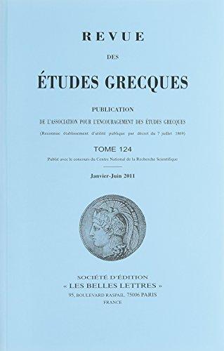 Preisvergleich Produktbild Études Grecques T124 2011