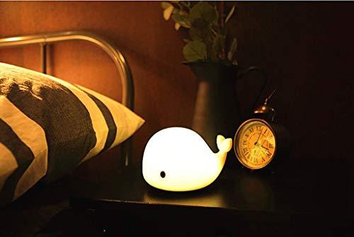 Zhang Yan ZYY LED-Nachtlicht Entzückender weicher Silikon-Delphin LED-Baby-Kinder-Nachtlichtlampe Sensitive Tap Control 6 Einzellichtmodi für Mädchen Lady Kid Baby Schlafzimmer und Kindergarten (Led-licht Tippen)