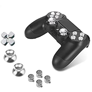 Sony PS4 Playstation 4 Controller Button Set Aluminium – Silver