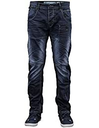 Hommes Coutures Tournantes Conique Coupe Standard Jeans Chino By Crosshatch