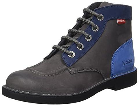 Kickers Damen Kick Col Combat Boots, Gris (Gris Marine Bleu), 41 EU
