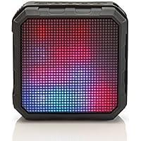 """ednet """"SPECTRO"""" LED Bluetooth Lautsprecher mit Lichteffekten, BT 4.0, NFC, Spritzwasser geschützt (IPX4), 2.200 mAh, schwarz"""