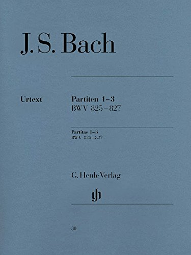 Partitas 1-3 BWV825-827 - Piano par Johann Sebastian Bach