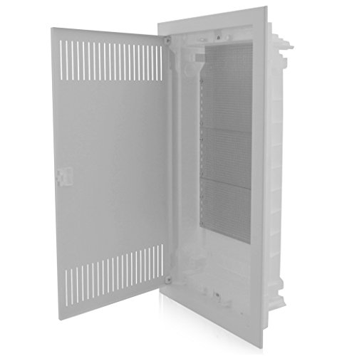 Intratec MKEUGH48 - Divisorio multimediale a incasso, 4 file, 717 x 346 x 92 mm, IP40, perfetto per l'organizzazione dei sistemi multimediali