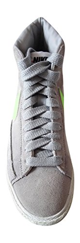 Nike da donna Blazer alta LTHR hi top ginnastica 615898Scarpe da ginnastica wolf grey flash lime armory navy 034