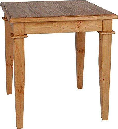 MiaMöbel Esstisch Mexico 70x78x70 cm Mexico Möbel Landhausstil Massivholz Pinie Honig
