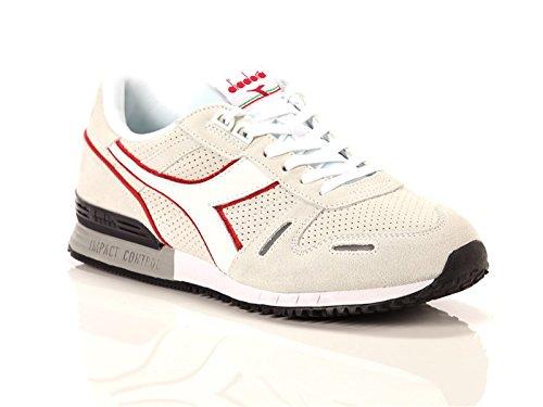Diadora Titan Premium, Sneaker Bas du Cou Mixte Adulte Bianco