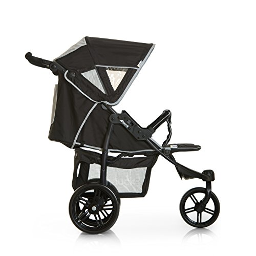 Hauck Viper SLX Trio Set, From Birth to 15Kg Travel System including Car Seat, Carry Cot and Raincover, 3 Wheel, Black