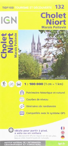 TOP100132 CHOLET/NIORT  1/100.000