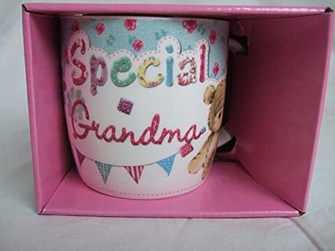Special Grandma Multi Coloured Cute Teddy Bear Sentimental Mug by Teddy Mugs