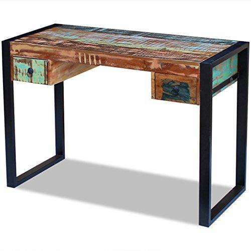vidaXL Schreibtisch Recyceltes Massivholz Bürotisch Computertisch PC Tisch