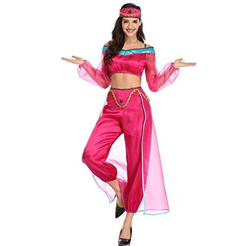 Eastern Corridor Damen Halloween Cosplay Jasmin Prinzessin Bauchtanz Kostüm Erwachsene Karneval Party Adventure Outfit Gr. L, - Prestige Disney Kostüm