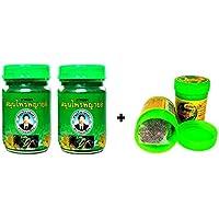 2x 50g Thai phayayor Green Balm Masaje Bálsamo vegetal pura + hong itchykoo Herbal inhaler de thailändischen hierbas y aceites esenciales–Thai Wellness Set