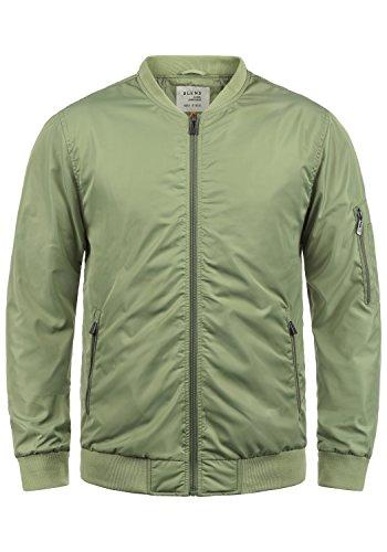 Blend Craz Herren Bomberjacke Übergangsjacke Jacke Mit Stehkragen, Größe:M, Farbe:Oil green (77202)