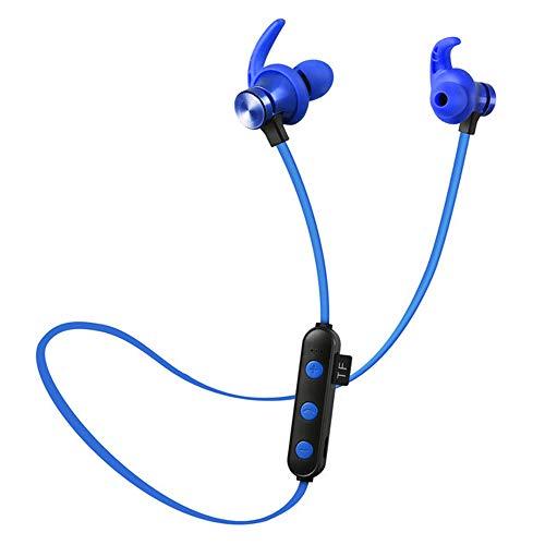 LEENP In-Ear-Kopfhörer Magnetische, Wireless Bluetooth-Headset, Ohrhörer Stereo-Headset Earphones für iPhone, Android Smartphones MP3-Player, Outdoor-Sport Elektronisches Geschenk,Blue