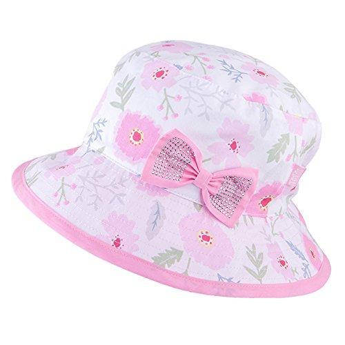 Galeja TuTu by Mädchen Sommerhut Flapper 100% Cotton Sonnenhut Gr. 50-52 Rosa Mädchenmütze -