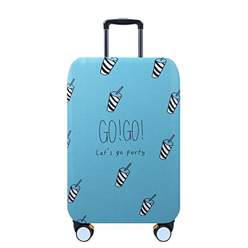 """Deylaying Creativo Tazza Disegno Viaggio Valigia Copertina Zipper Bagaglio Baggage Protettore Borsa 18""""-32"""" Elastico Anti-polvere"""