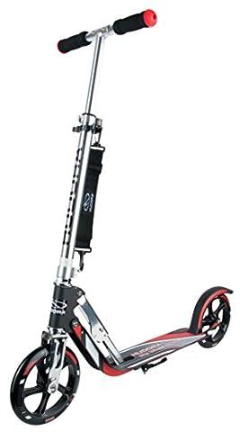 HUDORA Big Wheel RX-Pro 205 Racing Scooter, schwarz/rot - Tret-Roller