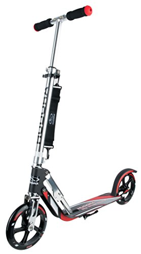 HUDORA Big Wheel Scooter 205, Tret-Roller klappbar - City-Scooter - 14758, rot/schwarz