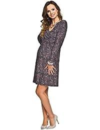 Stretch Pattern Maternity Dress - Violet